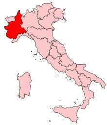 A map of piedmonte