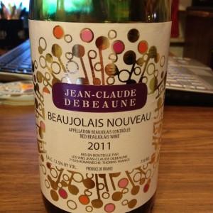 Debeaune Beaujolais Nouveau 2011