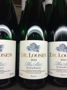 Dr Loosen 2012 Blue Slate thanksgiving wine