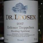 Dr Loosen Erdener Treppchen Riesling Spatlese 2007