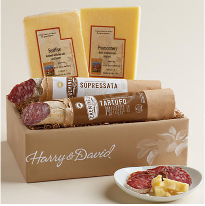 win a Harry & David cheese and salami basket