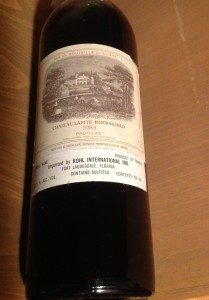 Chateau Lafite-Rothschild wine from Bordeaux, France