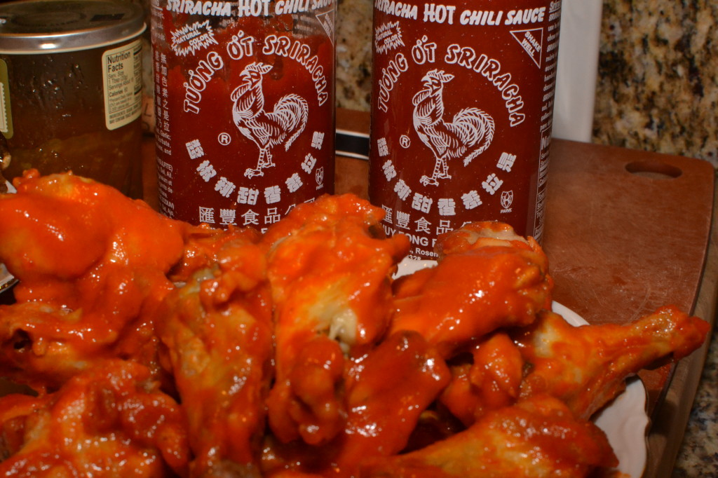 Sriracha Oven Fried Chicken Wings