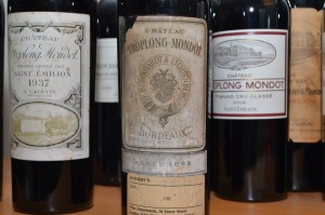 A bottle of Troplong-Mondot 1893 Bordeaux