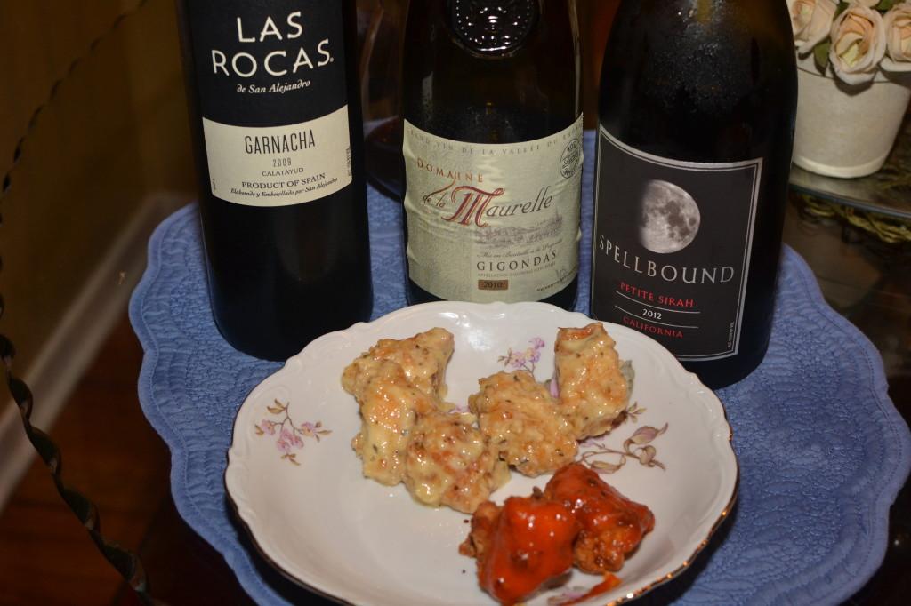 Pairing Wine with Parmesan Garlic chicken wings