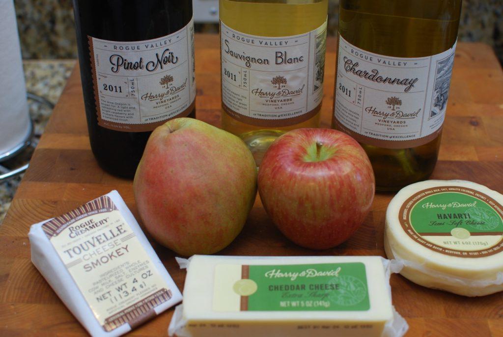 Harry & David Wine, Fruit and Cheese!