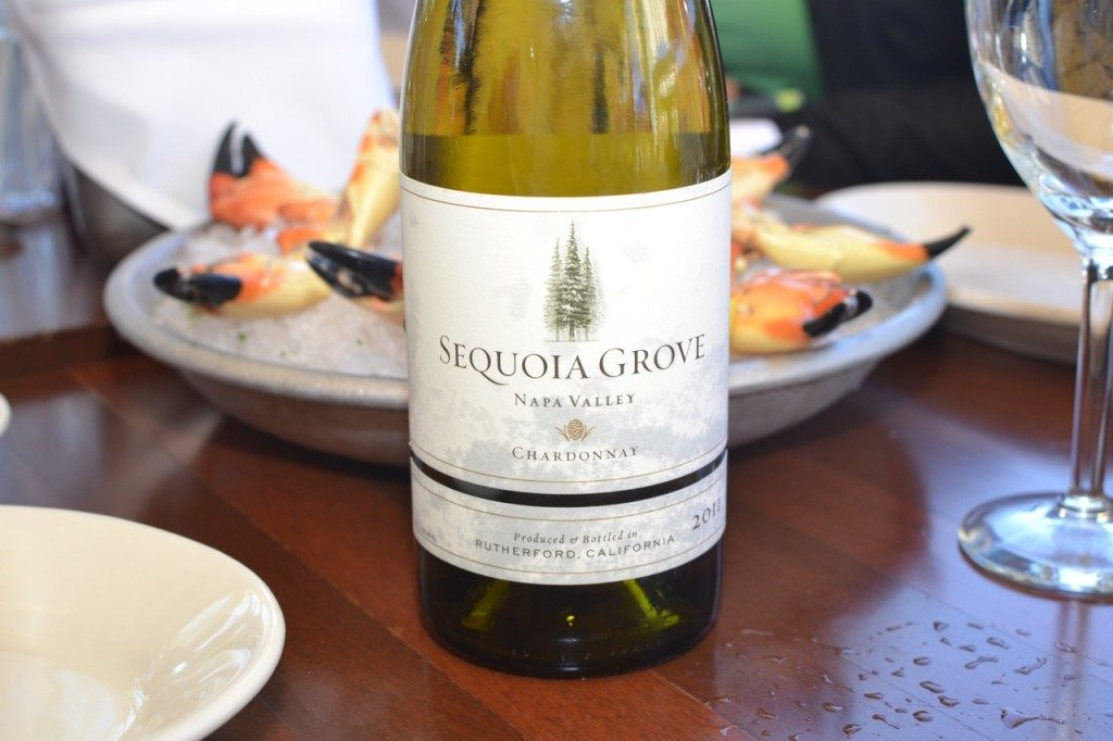 Pairing Sequoia Grove Chardonnay 2011 with stone crab claws