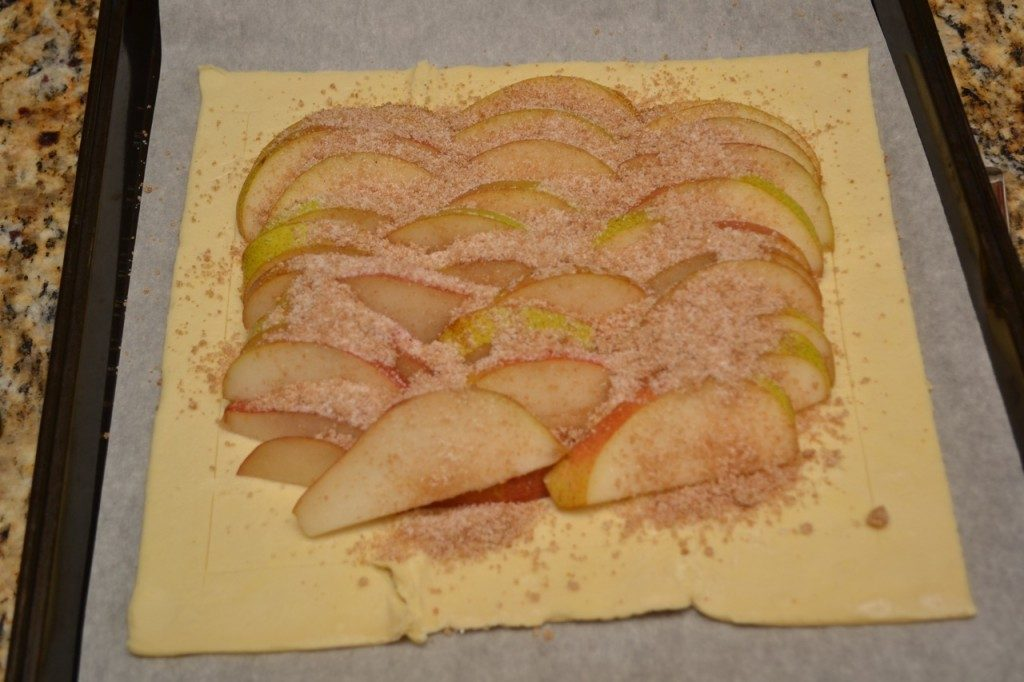 Sprinkle your Harry and David pears with the sugar mixture
