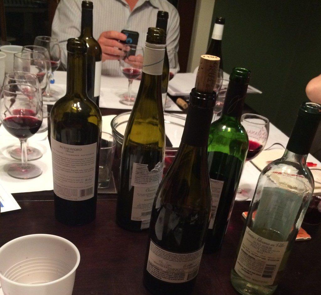 This Week's Blind Tasting Wines